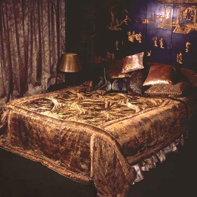 Luxury Designer Silk Bed Spread Or Throw Comforter Set